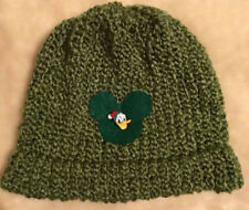 Green Beanie with Disney Inspired Mickey Mouse Patch Donald In Santa Hat
