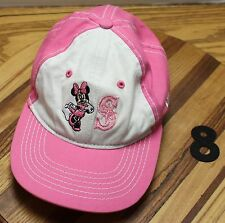 YOUTH GIRLS CHILD SEATTLE MARINERS DISNEY MINNIE MOUSE ADJUSTABLE HAT EXC COND