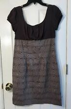 Iz Byer California Women's Dress/ Size 11/ Brown Plaid Dress