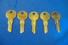 LOT OF FIVE LOCKSMITH Y11 KEY BLANKS FITS YALE SOLID BRASS MADE IN USA