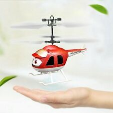 Flying Helicopter Hand Induction USB Charging Toy in RED color