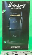 Marshall Amplification Pocket Size Guitar Products Guide Vtg 1998 Catalog 34 Pgs
