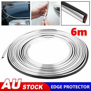 Silver Moulding U Shape Trim Strip Car Auto Door Edge Guards Protector Decor 6M