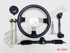 Steering Wheel Assembly set  Go Kart 110cc Tie Rod RACK Adjustable Shaft Go Cart