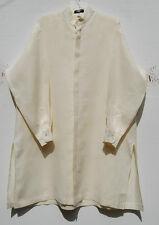 NEW Eskandar Bergdorf Goodman CREAM Linen Mandarin Collar Tunic Top (1) $795