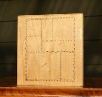 Scrapbook Sampler Frames Wood Mounted Rubber Stamp by JRL Design # V 135