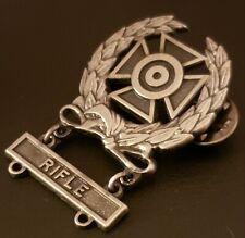 Us Army Expert Shooting Oxidized Badge Wreath Rifle Marksman Qualification Q bar