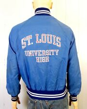 vtg 80s Champion Blue label Nylon Satin Jacket St. Louis University HS sz M