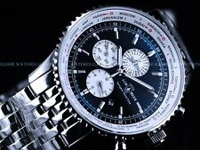 VERY RARE Air Blue By Deep Blue Navigator World Time PANDA Dial Sapphire Watch