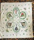 "Nice! Vintage 1950s Swedish Folk CostumeCounty Tapestry Wall Hanging 33"" x 38"