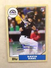DAVID DAHL 2017 Topps Baseball 30th Anniversary Auto #1987A-DD RC Autograph