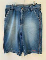 MAMBO men's blue denim retro vintage long shorts size 34