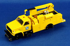 Bachmann Trains #16903 Hi Rail Equipment Truck w/Crane (DCC On Board) Yellow HO