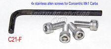 Set of 4 todos los screws amal 99-0521 19-3093 622/068 inbusschrauben set carburador