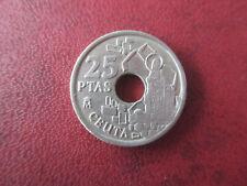 """25 Pesetas 1998.Variante  """"Piedra"""""""