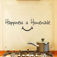 Huhome PVC Wall Stickers Wallpaper English HAPPINESS happy smiley kitchen green