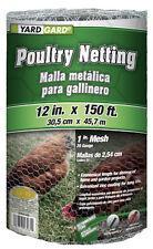 """12"""" x 150', 1"""" Mesh, Galvanized Poultry Net, 20 Gauge. Chicken Wire 843086"""