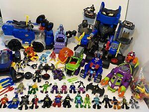Imaginext Batman DC Super Heroes Bundle Figures Vehicles Cars Building Missiles