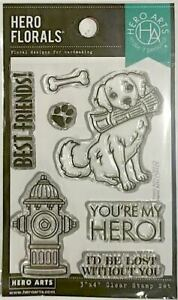 HERO ARTS FLORALS CLEAR STAMPS ~YOU'RE MY HERO CODE CM429