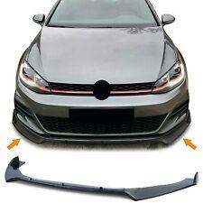 Frontspoilerlippe Spoilerlippe Schwarz für VW Golf 7 GTI Limousine 12-21