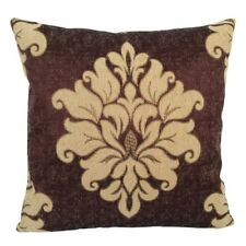 Satin Gold Effect Damask 18x18 Purple Decorative/Throw Pillow Case/Cushion Cover