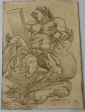 ITALIAN OLD MASTER INK DRAWING ON HAND MADE PAPER NO RESERVE