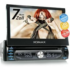 CAR STEREO RADIO SYSTEM WITH GPS SAT-NAV BLUETOOTH TOUCH-SCREEN DVD CD USB 1DIN