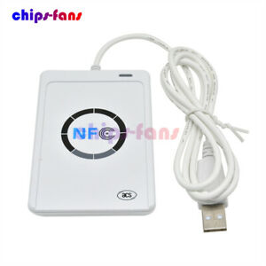 Smart USB ACR122U NFC Reader Writer 13.56Mhz RFID Copier Duplicator Contactless