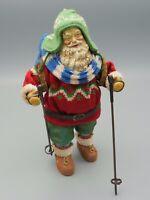 Vtg Department 56 Clothtique by Possible Dreams Ltd Skiing Santa 1989 Christmas