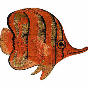 Tropical Fish Patch Iron Sew On Clothes Embroidered Badge Embroidery Applique
