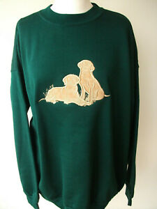 LADIES,WOMENS,LADYS,EMBROIDERED SWEATSHIRTS,TOPS,JUMPERS,WITH GOLDEN LABRADORS