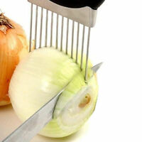 Stainless Steel Onion Holder Slicer Vegetable tools Tomato Cutter Kitchen Tool