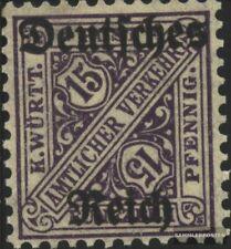 Duits Empire D59 postfris MNH 1920 Württemberg-Afdrukken