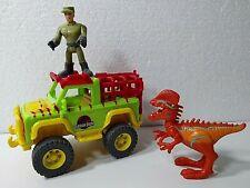 Imaginext Jurassic Park Jeep Truck Fisher Price 2014 + Figure & Dilophosaurus