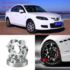 """4pcs 1"""" Wheel Spacers Adapters 5 Lug 5x4.5""""/5x114.3-12x1.5 Studs For Mazda 3 04+"""