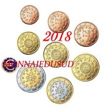 Série 1 Cent à 2 Euro FDC Portugal 2018 - Fleur de Coin