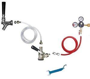 Kegerator Beer Box keg Single Faucet Draw Hose Keg Couplers Kit Co2 Regulator