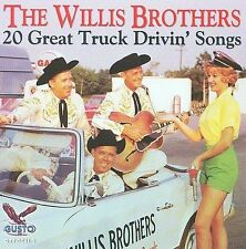The Willis Brothers - 20 Great Truck Drivin' Songs CD BRAND NEW, Musica Monette