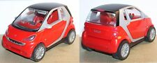 GMBH MPG SMART FORTWO COUPE KINDER FRICTION 1/33 ROUGE TOIT NOIR NEUF
