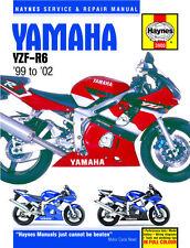 HAYNES 3900 MOTORCYCLE SERVICE REPAIR OWNERS MANUAL YAMAHA YZF-R6 1999 - 2002