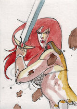 Breygent Red Sonja 2012 Sketch Card by Guilherme Balbi