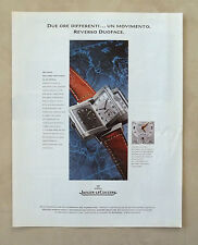 C240-Advertising Pubblicità-1998- JAEGER LE COULTRE REVERSO DUOFACE OROLOGIO