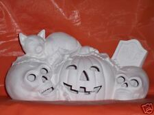 Ceramic Ready to Paint Pumpkins, Skulls, Cat and RIP