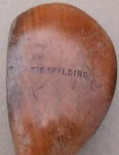 RARE  Antique 1897 The SPALDING Semi-Long Nose Splice Neck  Wood Shaft  Driver