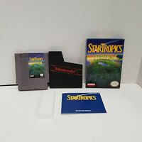 StarTropics (Nintendo Entertainment System) IN BOX! Manual and Letter! NES Nice!