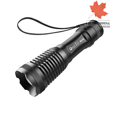 LED Tactical Flashlight 1000 Lumen Zoomable Flashlight Rechargeable portable ...