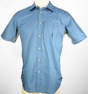 Northwest Territory Men's Size M Blue Fishing Button Front Vented Safari Shirt
