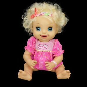 Baby Alive Learn To Potty 2007 Hasbro Talking Interactive Soft Face Doll Blonde