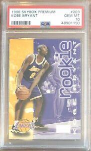 1996 Skybox Premium #203 Kobe Bryant PSA 10 HOF Lakers Mamba Out