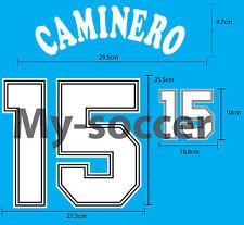 SPAIN HOME World Cup 1994 Soccer Football NAME NUMBER VELVET FLOCK PRINT